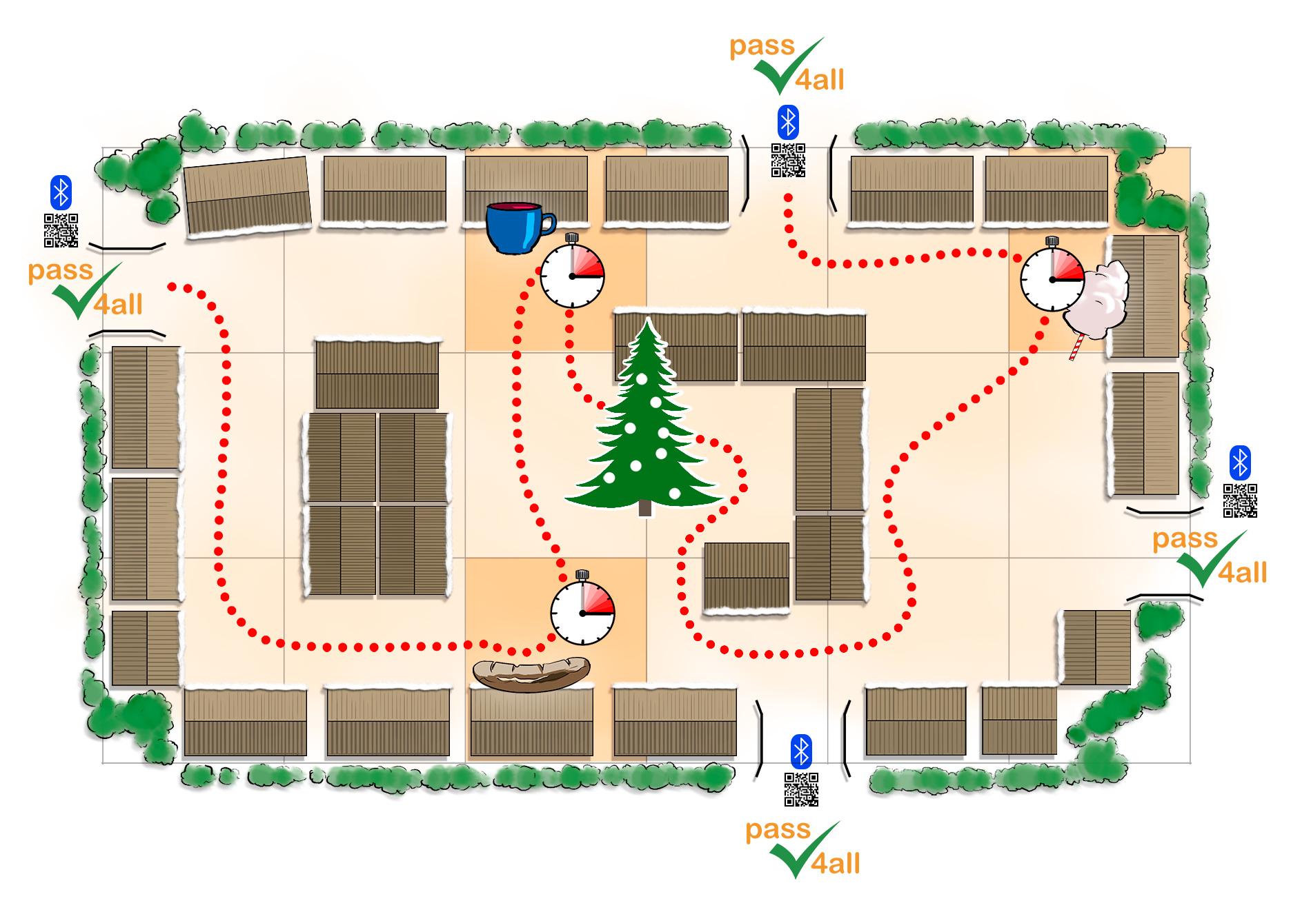 pass4all Weihnachtsmärkte digitale Kontaktnachverfolgung Geofencing